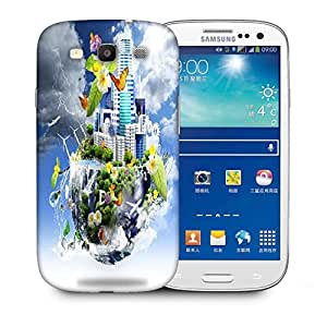 Snoogg Half Earth Designer Protective Back Case Cover For Samsung Galaxy S3