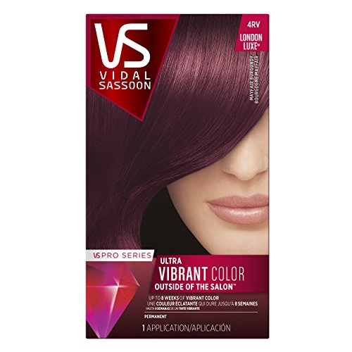 Vidal Sassoon Pro Series London Luxe Hair Color Kit 4rv Mayfair Burgundy 037000644194