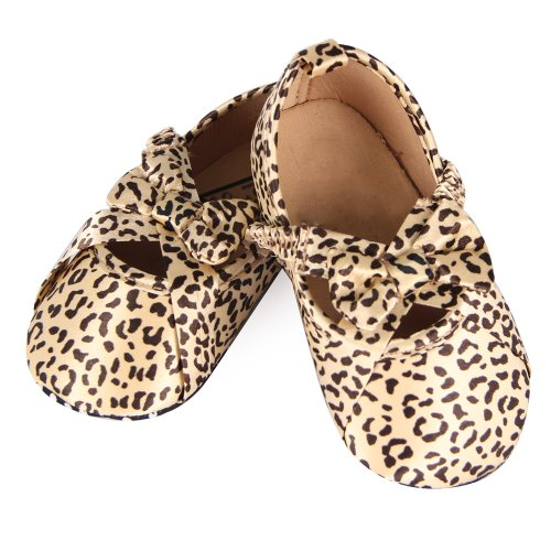 Your Gallery Newborn Baby Infant Toddler Soft Leopard Bowknot Shoes Dots Cack