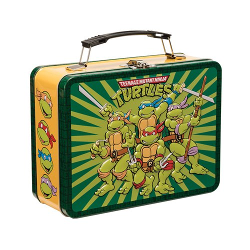 Vandor 38070 9 by 7.5 by 3.5-Inch Teenage Mutant Ninja Turtles Tin Tote, Multicolored 0