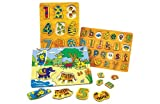 Chad Valley Farm Animals Kids Wooden Jigsaw Set.