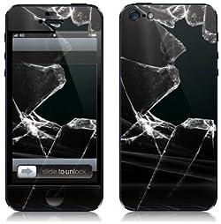 iPhone5 スキンシール 割れたガラス