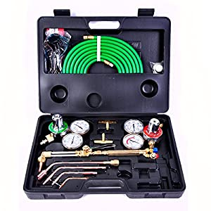 Gas Cutting Welder Welding Kit Tool Set Oxy Oxygen Acetylene Torch Victor Fit with Hose, Regulator & Case from Jet Tool USA®