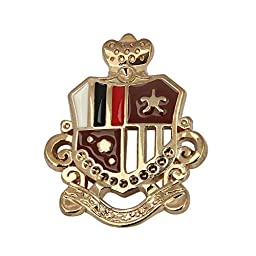 10pc Gold Plated Metal Patriotic Logo Brooch Clutch Pin IA416