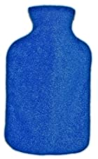 Warm Tradition Royal Blue Fleece Covered Hot Water Bottle -Bottle made in Germany, Cover made in USA