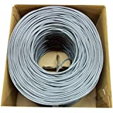 New 500 ft bulk Cat5e Ethernet Cable / Wire UTP Pull Box 500ft Cat-5e Grey ~ VIVO (CABLE-V002)