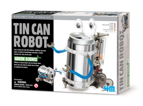 4M Kidz Labs Tin Can Robot - 1