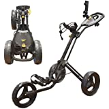 """NEW 2014"" POWAKADDY TWINLINE 4 GOLF TROLLEY BLACK"