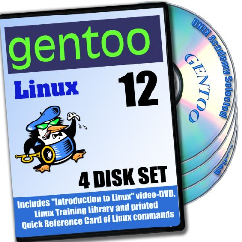 Gentoo 12 Linux, 4-discs DVD Installation and Reference Set, Ed.2013