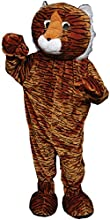 Tiger Mascot Adult One Size Costume - Tiger Mascot Adult One Size Costumejumpsuits With Attached Mit