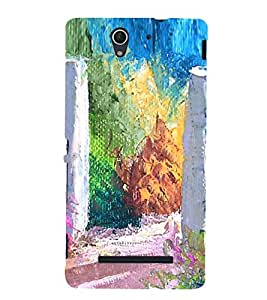 Colourful Painting 3D Hard Polycarbonate Designer Back Case Cover for Sony Xperia C3 Dual :: Sony Xperia C3 Dual D2502