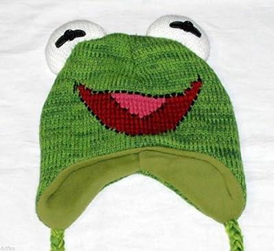 Sesame Street Muppets Kermit the Frog Universal Sized KERMIT Beanie Cap