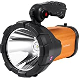 Portable Waterproof High-power Super Bright T6 10W CREE XML LED Searchlight Gearshift Glare Flashlight Headlight Remote Long Shot Large Outdoor Rechargeable Search Lights Tunning Light Torch Spotlight Lamp Bulb for Hunting Fishing Camping (White)