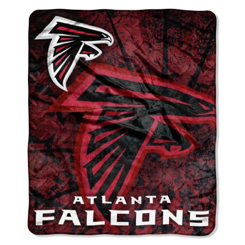 NFL Atlanta Falcons Roll Out Royal Plush Raschel Throw Blanket