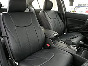2013 Ford Focus Se Hatchback Clazzio Leather Seat Covers - Black - Full Set - Front and Rear Row