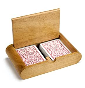 2 Deck (Poker and Bridge Size) Wooden Card Box by Brybelly