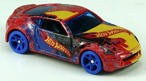 Team Hot Wheels High Speed Wheels - Nissan 370Z (Red, Yellow and Blue Deco)