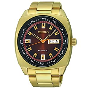 Seiko Men's SNKM98 Analog Display Japanese Quartz Gold Watch