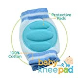 Baby Knee Pad For Crawling With Pacifier Clip by Little Lamby (3 Pairs) - Breathable Adjustible Elastic Unisex Infant Toddler Protector, Premium Quality Indoor Outdoor Use, Keep Your Child Safe Now!