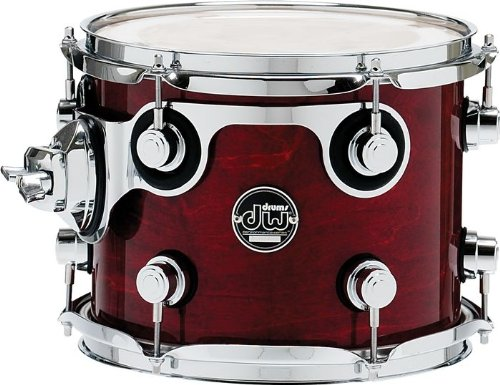 DW Performance Series Mounted Tom 8x10 Dark Cherry Stain Lacquer