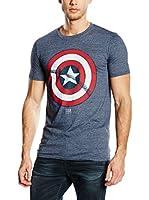 MARVEL Camiseta Manga Corta Captain America Shield (Azul Grisáceo)