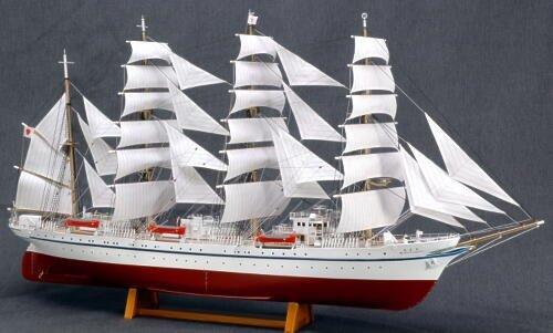 木製帆船 1/160 日本丸 (帆付き)