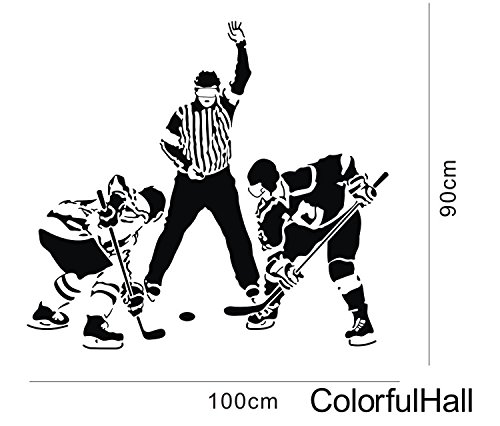 Hockey Sport Wall Decals Art Decoration For Boys Kids Bedroom Living Room front-961246