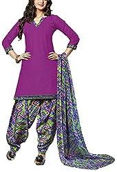 Fabiola Trendz Women's Cotton Unstitched Dress Material (Purple )