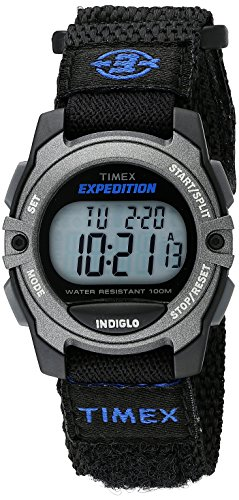 Timex Unisex TW4B02400 Expedition Mid-Size Digital CAT Black Fast Wrap Velcro Strap Watch (Timex Digital Analog compare prices)