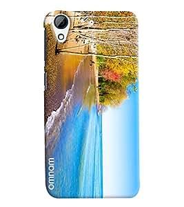 Omnam Sea Side Beach Printed Designer Back Cover Case For HTC Desire 626