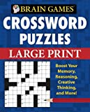 img - for Brain Games Crossword Puzzles Large Print (Brain Games (Unnumbered)) book / textbook / text book