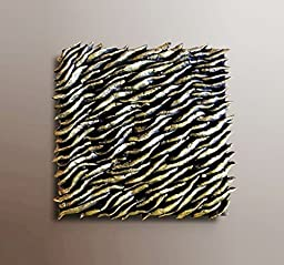 Textured Wall Tile - Wall Sculpture - Textured Abstract Painting - Wood Wall Decor - Wall Art