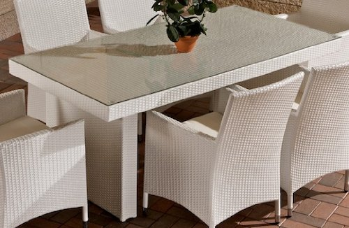 CLP-Poly-Rattan-Garten-Tisch-AVIGNON-Gre-180-x-90-cm-Hhe-75-cm-bis-zu-5-Rattan-Farben-whlbar-wei