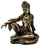 Sale - Royal Ease Kuan-yin Water Moon Guanyin Statue Bronze - Ships Immediatly !
