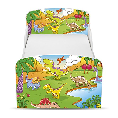 PriceRightHome dinosaure Design MDF Toddler ne Bed aucun stockage + matelas Deluxe