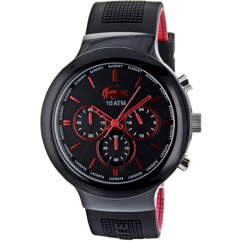 Borneo Men's Chronograph Watch Color: Black / Red