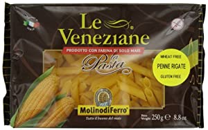 Le Veneziane Penne Rigate, 250-Gram Packages (Pack of 6)