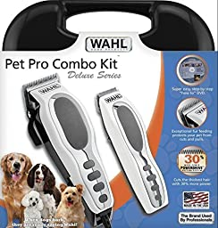 Wahl Professional Pet Grooming Deluxe Kit Clippers Cordless Trimmer Dog Cat