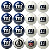 NFL New York Giants Home Versus Away Team Billiard 8-Ball Set