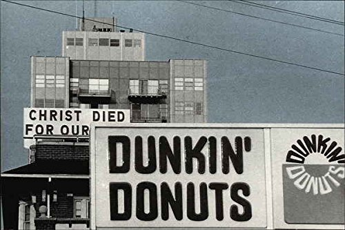Christ Died For Our Dunkin' Donuts Comic Funny Original Vintage Postcard