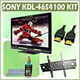 Sony Bravia S-Series KDL-46S4100 46-inch 1080P LCD HDTV and Accessory Outfit Outfit With Wall Mount