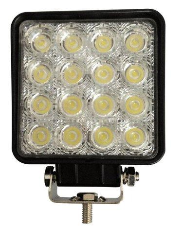 "Cutequeen Trading Universal 10V-30V Dc 48W 4.5"" Square 6000-6500 Led Spot Light For Tractor Marine Off-Road Lighting Rv Atv(Pack Of 1)"
