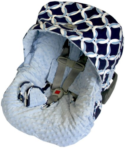 Itzy Ritzy Infant Car Seat Cover, Social Circle Blue