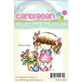 Little Darlings CandiBean Cling Mounted Rubber Stamp, 3.25-Inch by 3.323-Inch, Peek a Boo