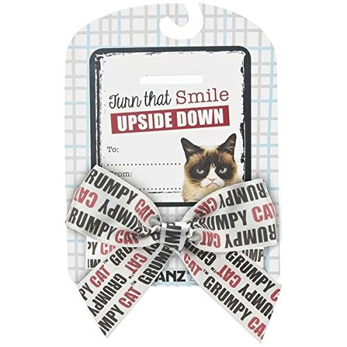 "Grumpy Cat Sentiments ""Turn that Smile Upside Down"" Bow & Card - 1"