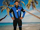 New 2 Piece 7 Mm Farmer John Style Wetsuit, Size Large, Surf, Dive, Sucba, Gold Dredge #6900