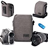 First2savvv BDV1701 cavans DSLR SLR camcorder case bag for panasonic Lumix HC-V10 HC-X920 HC-V520 Toshiba CAMILEO X400 CAMILEO X200 CAMILEO X150 CAMILEO Z100 with card reader