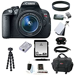 Canon EOS Rebel T5i 18.0 MP CMOS Digital Camera with EF-S 18-55mm f/3.5-5.6 IS STM Zoom Lens and Deluxe Accessory Bundle
