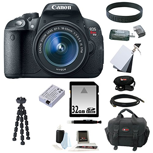 Canon Eos Rebel T5i 18 0 Mp Cmos Digital Camera With Ef S 18