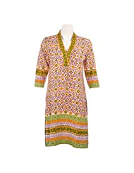 Cotton Curio Women's Traditional Kurti - (11003378_Purple)